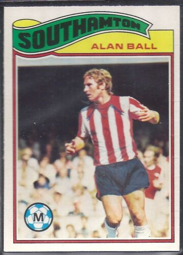 TOPPS-FOOTBALL ALAN BALL ORANGE BACK 1978 -#097- SOUTHAMPTON