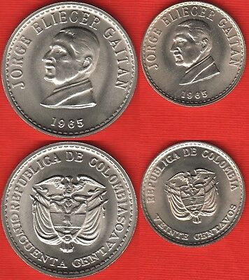 KM225 Colombia 1965 50 Centavos Uncirculated