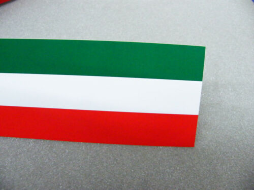 Frise 60 mm Italie Drapeau Vert Blanc Rouge Brillant zierlinie décor rayures