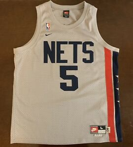 Rare Vintage Nike Rewind Throwback NBA New Jersey Nets Jason Kidd ... d3b760b1d