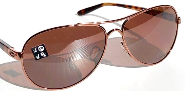 6e75a98e44 NEW  Oakley TIE BREAKER Rose Gold AVIATOR w POLARIZED Women s Sunglass  4108-04