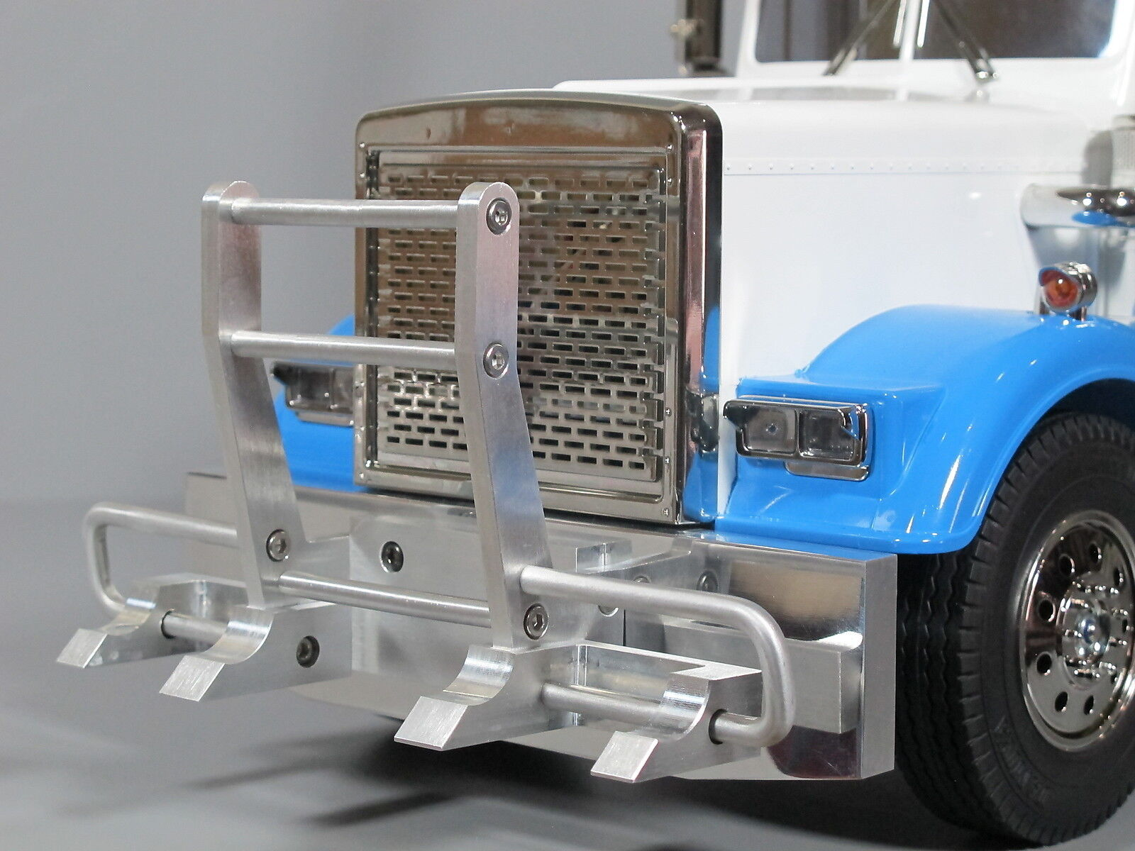 Aluminum Front Hook Style Guard + Bumper Tamiya RC 1 14 King Grand Knight Hauler
