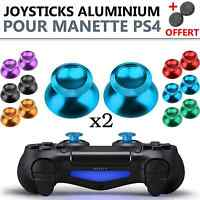 2x Stick Analogique Metal Aluminium Pour Manette Ps4 Joystick Analog Thumb Grip