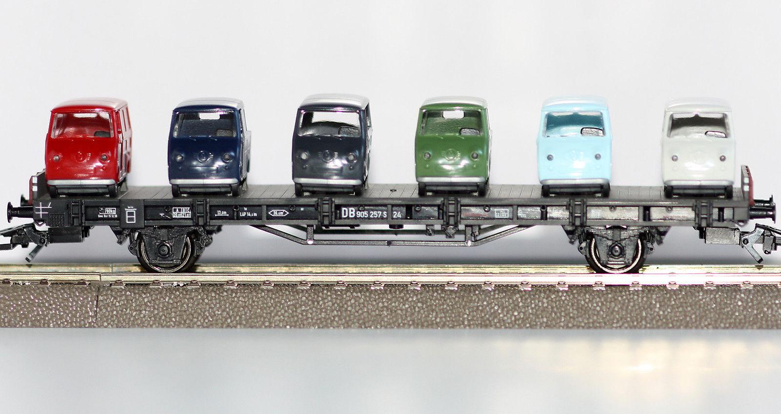 Märklin h0 45099-03 AUTO CARRELLO TRASPORTO CON Goggomobil-Furgoni Nuovo