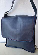 Marc Jacobs MBMJ Large Blue Leather Designer Messenger Cross-Body Bag Unisex