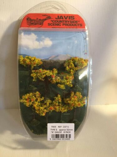 Countryside Trees 50mm Tall 8 Pack Javis CST 5 N Gauge Tracked 48 Post