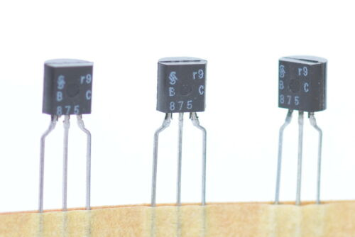60 V // 1 A // 0.8 W TO92 NPN-Transistor von Siemens /& Halske Typ BC875 NOS