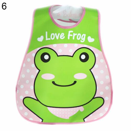 AM/_ Waterproof Baby Kid  Infant Cartoon Feeding Bib Saliva Apron with Pocket Rak