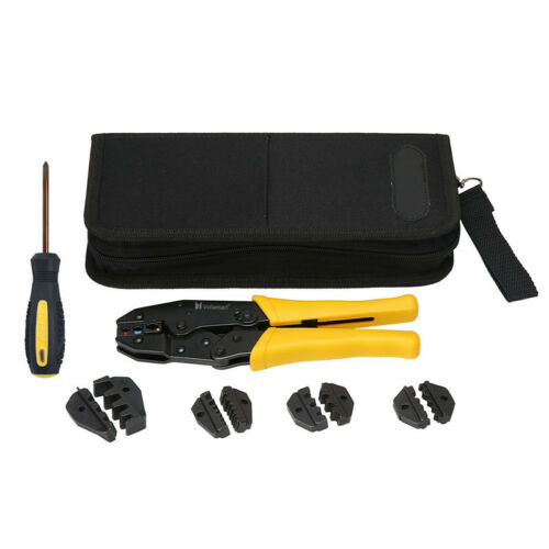 Insulated Terminal Cable Crimper Tool Kit Wire Ratchet Plier Crimping Set