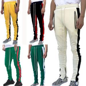 Mens-Casual-Sweatpants-Fleece-GYM-Workout-Sports-Active-Track-Pants-Trousers