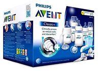 Philips Avent Bottles Set Newborn Classic Plus Baby Starter Gift Kit, Clear