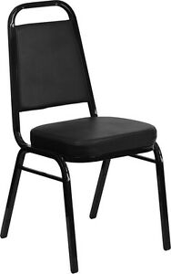 Thickly Padded Black Vinyl Banquet Catering Stack Chair | eBay