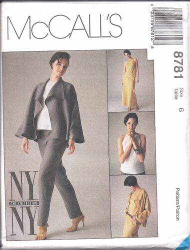8781 UNCUT McCalls SEWING Pattern Misses Jacket Pants Bias Top Skirt NY Collect