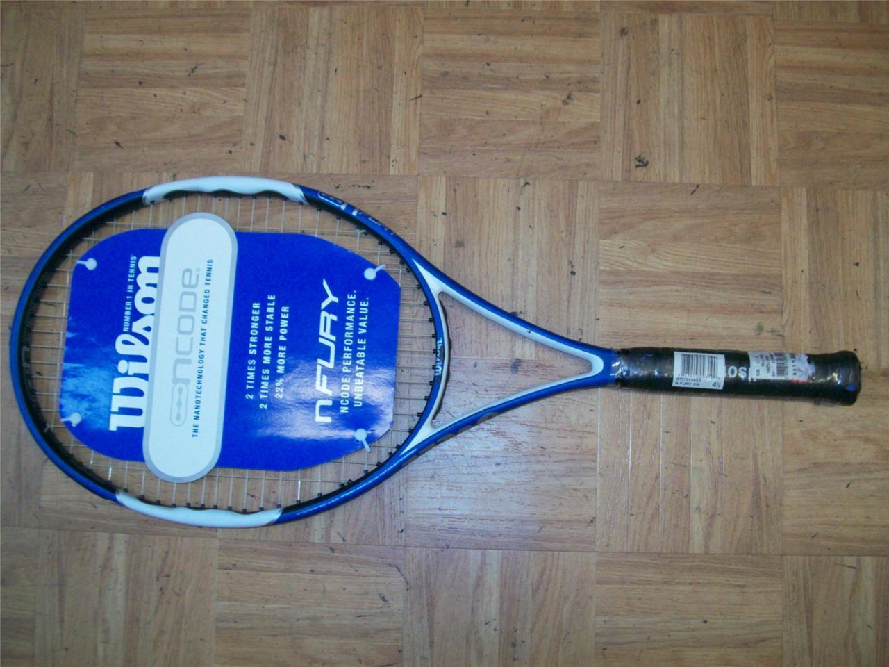 Nouveau Wilson N Code N Fury OverGröße 110 4 1 2 grip raquette de tennis