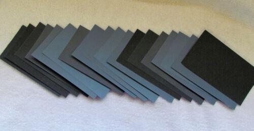 "Sandpaper Wet Dry 36 pc 3/"" X 5 1//2/""  Sheets 2000 grit"