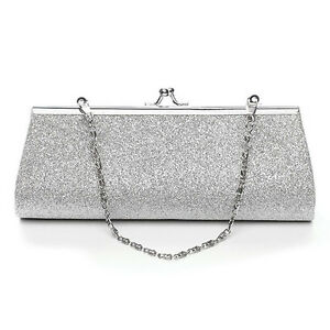 Women Clutch Purse Evening Party Wedding Banquet Handbag Shoulder Bag Glitter | EBay