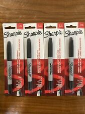Sharpie Twin Tip Permanent Markers Fine Amp Ultra Fine Points Black 4 Pack