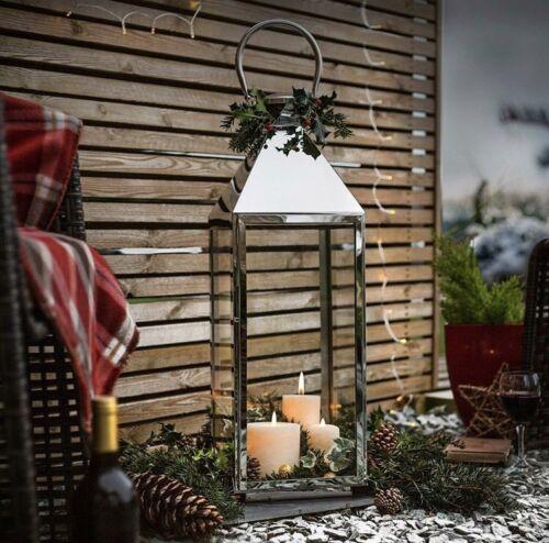 La Hacienda Noël Bougie lanternes en acier inoxydable Diverses Tailles Disponibles *