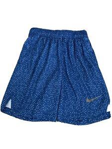 Nike-Just-Do-It-Youth-Boy-s-Blue-Athletic-Basketball-Shorts-Size-Large