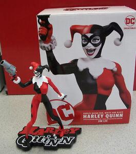 Image Is Loading Harley Quinn Red White Amp Black Statue Jim
