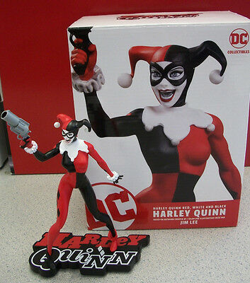 Harley Quinn Red White /& Black statue Jim Lee design Hush DC Collectibles new