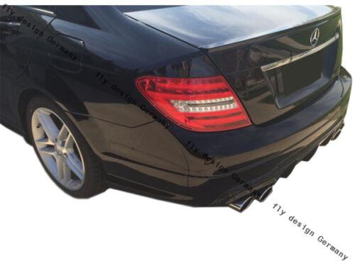 FACELIFT Mercedes W204 204 AMG Tuning Diffusor Heckansatz Mopf Hinten Schürze
