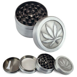 4-layer-Zinc-Alloy-Crusher-Leaf-Design-Tobacco-Weed-Smoke-Herb-Grinder-Spice-Top
