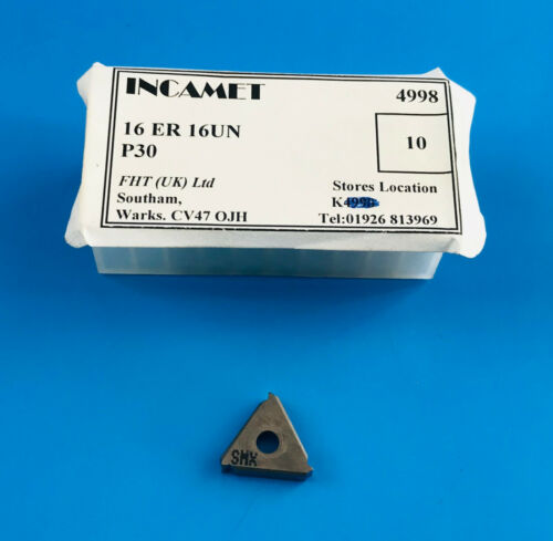1 Off Incamet 16ER 16UN P30 Carbide Threading Insert
