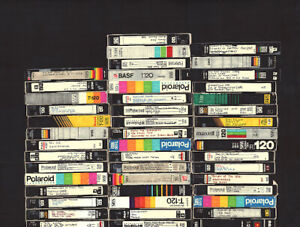 Lot of 15 pre-recorded sold as used Blank VHS Tapes w/ various recordings.