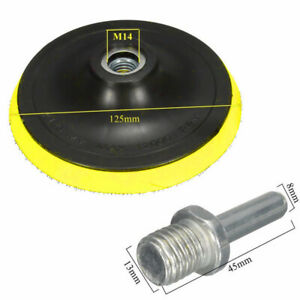 3-4-5-6-7-039-039-Backer-Pad-Polishing-Buffing-Plate-Rubber-M14-Drill-Thread-Kit-Tool