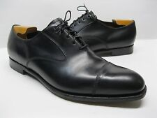 Edward Green Chelsea Hand Made Black Leather Cap Toe Oxfords 10.5 D - Very nice