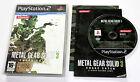 Sony PLAYSTATION 2 PS2 METAL GEAR SOLID 3 SNAKE EATER 2005 Konami SLES-82024