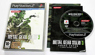 Sony PLAYSTATION 2 PS2 METAL GEAR SOLID 3 SNAKE EATER 2005 Konami SLES-82024