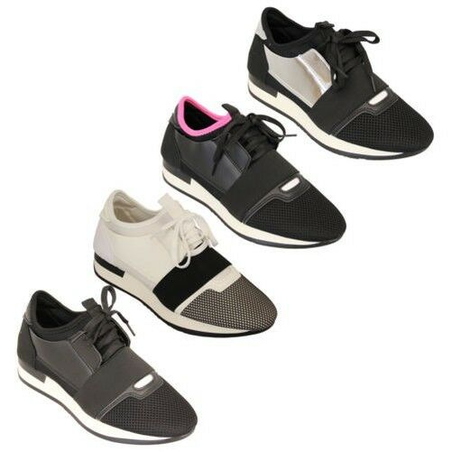 Ladies Camouflage Trainers Womens Lace