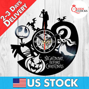 the nightmare before christmas jack disney vinyl record wall clock
