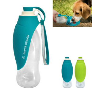Details about Portable Dog Water Bottle Foldable Travel Dispenser Drinking  Feeder Bowl 650ml