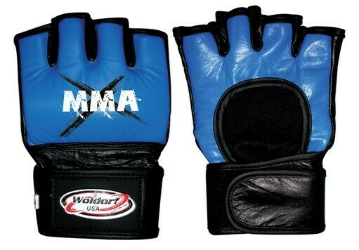 WOLDORF USA MMA Gloves Leather Open Palm Style Grappling Mixed Martial Arts