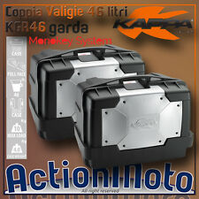 Coppia Valigie Laterali Rigide Monokey KAPPA KGR46 Garda 46 LITRI Moto = GIVI