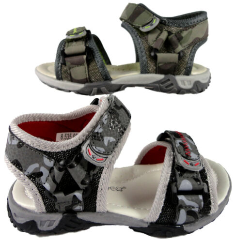 Boys Childrens Army Surf Sports Beach Walking Sandal Shoes Soft Touch Fastening