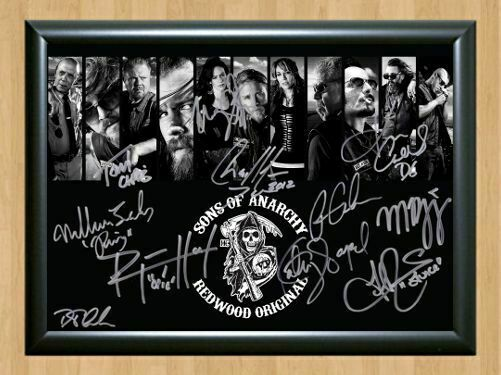 Sons Of Anarchy Signed Autograph A4 Photo Print Poster-Framed or Unframed Avail.