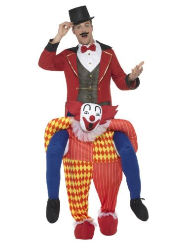 Piggyback Clown Jester Costume Adult Mens Halloween Ride On Fancy Dress Outfit