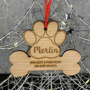 Personalised-Christmas-Tree-Dog-Bone-Memorial-Decoration-Xmas-Ornament-Bauble