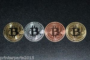 Bitcoin-4pcs-Coins-Collectible-Gold-Silver-Copper-Fast-Shipping