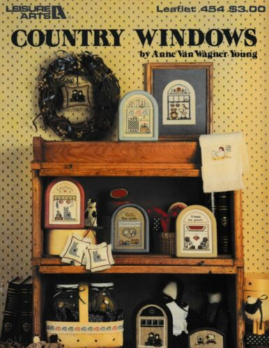 Country Windows Cross StitchLeisure Arts 454 Hearts