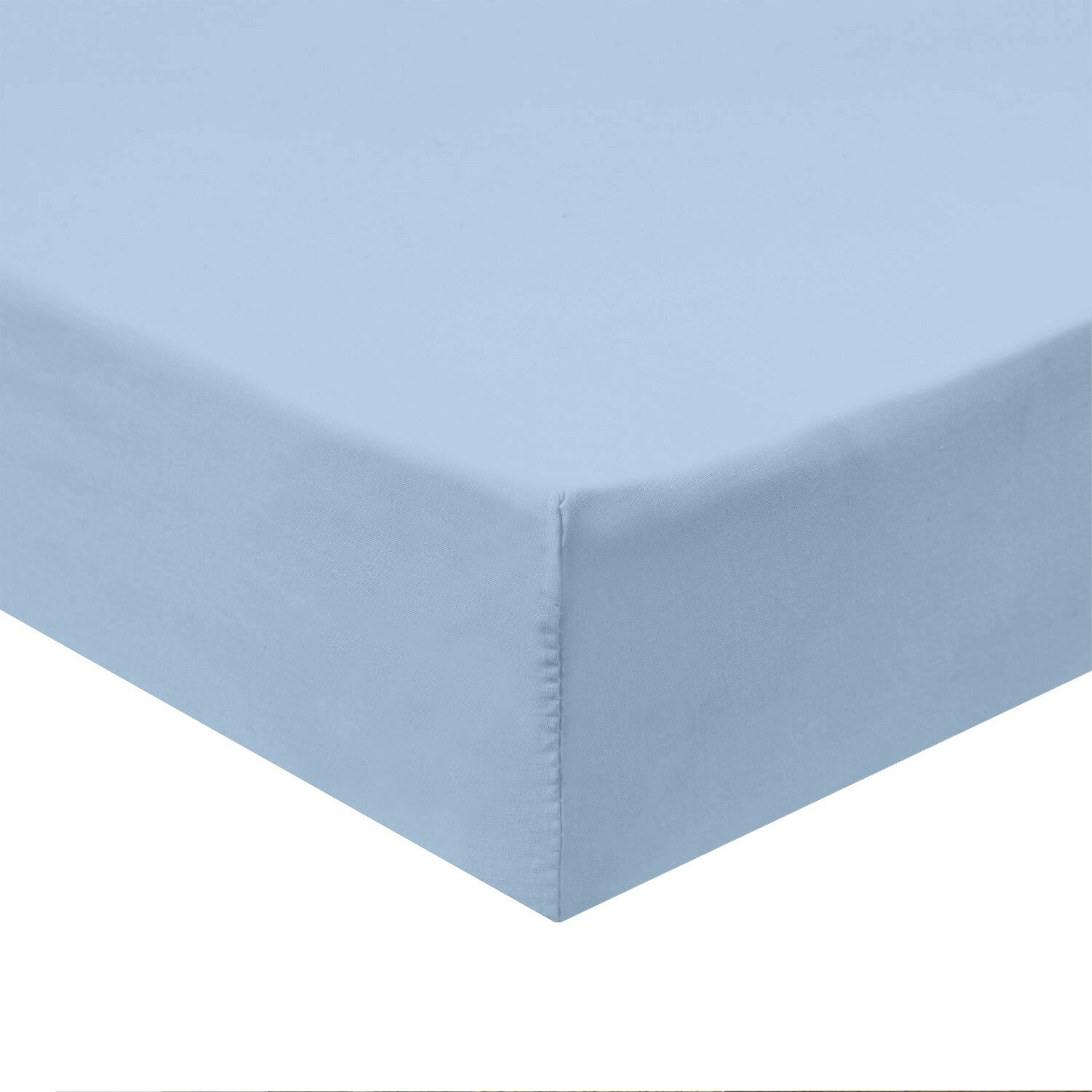 100% Cotton Fitted Solid Sheet 600 Thread Count Sateen Sheets
