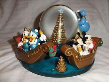 Tokyo DisneySea Christmas 2004 Snowglobe Figurine Genie Ariel Mickey Disneyland