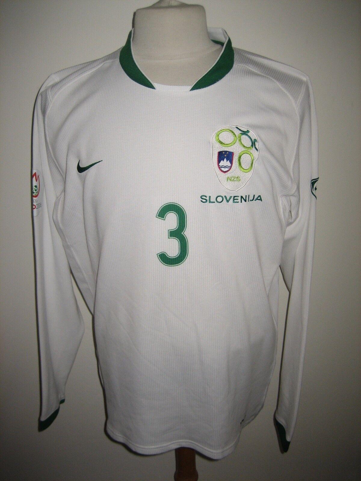 Slowenien gegen Holland MATCH WORN Fußballshirt Fußball Trikot Trikot L