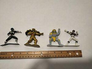 Power Rangers Figure Set - Black Ranger, White Ranger, Goldar, And Sphinx