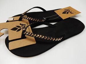 f6e9cdfe6 Reef Womens Bliss Embellish Black Bronze Size 7 191477022708 | eBay