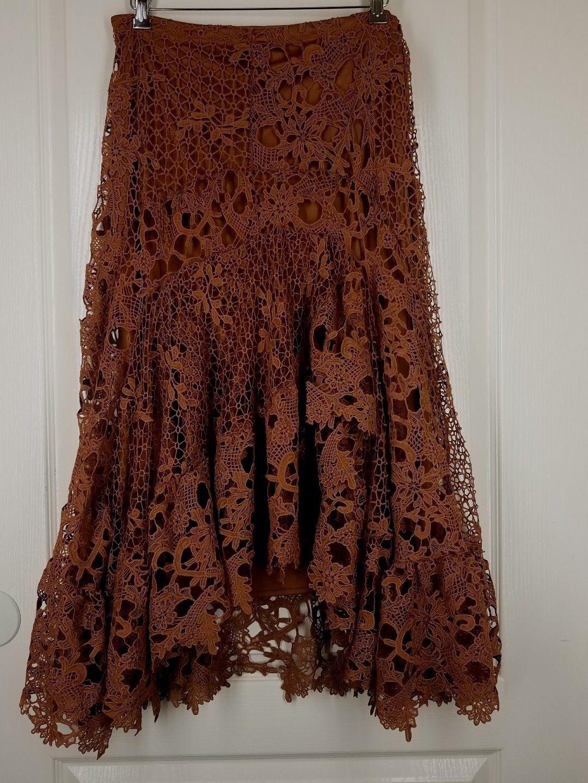 BRAND NEW REBA RETAIL  118 Sz 12 STUNNING Crocheted Skirt color Autumn Meadows